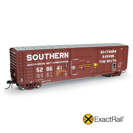 "HO Scale: P-S 5277 ""Waffle"" Boxcar : SOU : 1976 'As Delivered' w/ Henn"