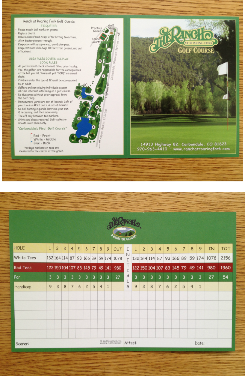 Rates Info Ranch At Roaring Fork Golf Course