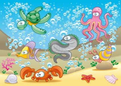 5100 Koleksi Contoh Gambar Kartun Hewan Laut Gratis