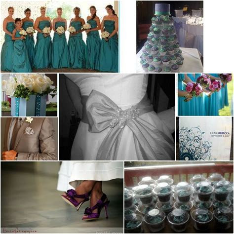 images  purple teal wedding ideas