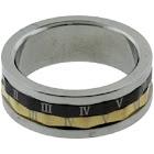 AzureBella Jewelry Roman Numeral Mens Spin Ring Tri-Tone Size 10