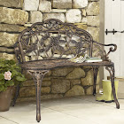 Best Choice Products Floral Rose Garden Patio Bench, Bronze