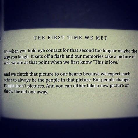 The First Time We Met Quotes Tumblr