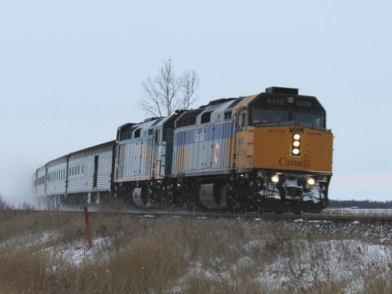 VIA 6438 and 6437 near Winnipeg