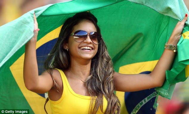 Full of support: Brazil fans were out in their numbers in Fortaleza