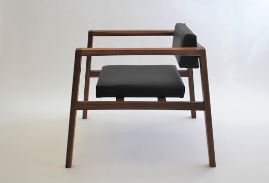 #Chair in #walnut & black #leather now available @livingbydesign
