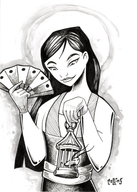 Mulan Drawing, July Challenge 28