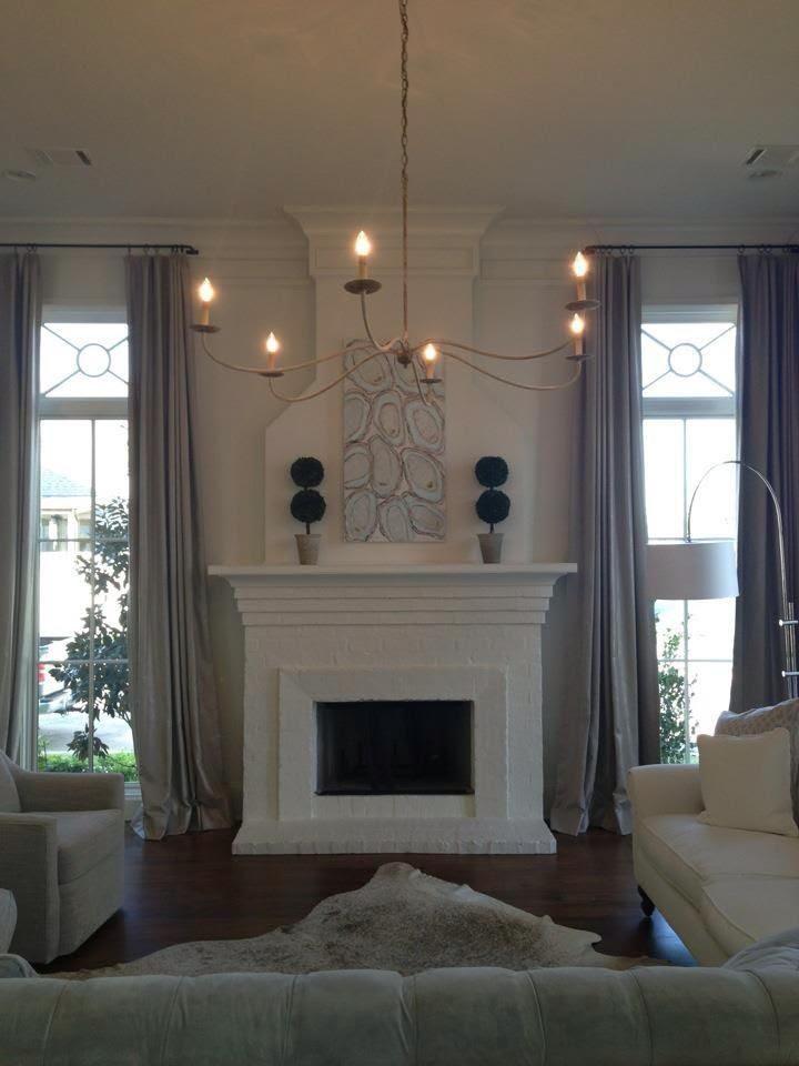 Fireplace Between Windows Fireplace Windows Fireplace Between Windows Living Room With