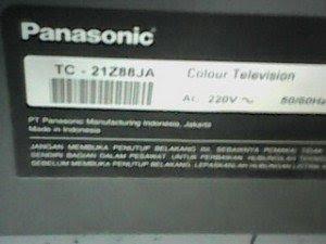 model tv panasonic tc21z88ja
