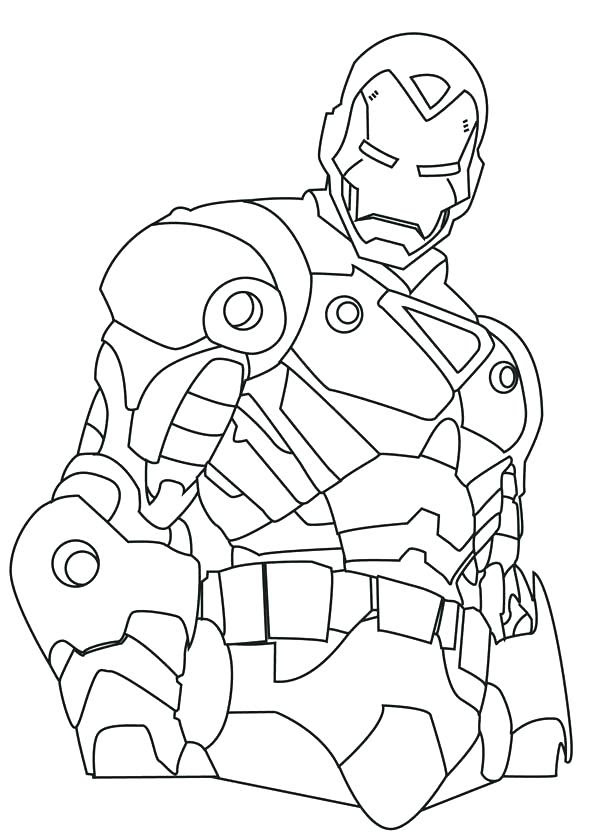 Easy Iron Man Drawing at GetDrawings | Free download