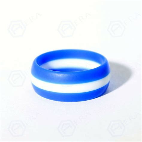 Thin White Line Rubber Silicone Wedding Ring Band FlexFit