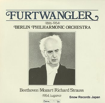 FURTWANGLER, WILHELM in lugano, 1954 beethoven; symphony no.6 in f major, op.68 pastoral