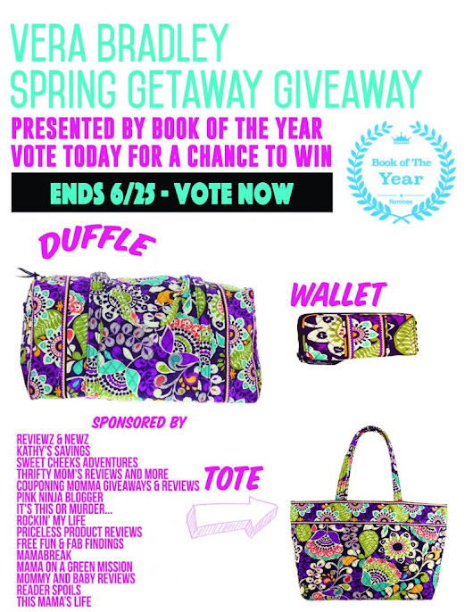 Vera Bradley Spring Getaway Giveaway! Ends 6/25 #Reading #Sweeps #VeraBradley