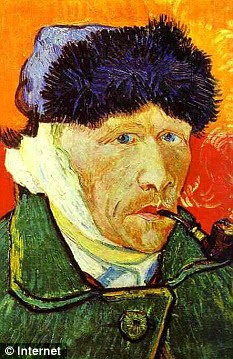 All bandaged up: Painter Vincent Van Gogh never spoke about the cause of his missing ear, but it is claimed rival Paul Gauguin chopped it off outside a brothel