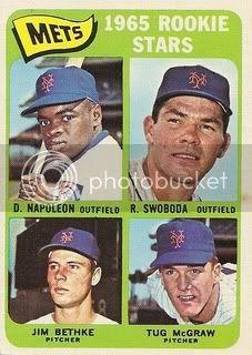 #533 Mets Rookies: Dan Napoleon, Ron Swoboda, Jim Bethke, and Tug McGraw