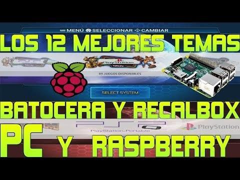 Mega Pack 12 Themas Batocera PC Recalbox Raspberry + Instalacion