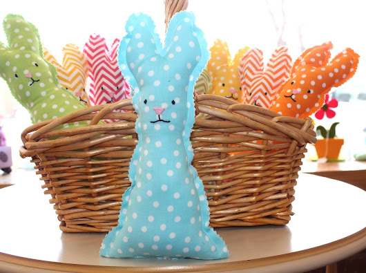 Easter Bunny Tutorial - Fabric Bunny Plush - A Crafty Life