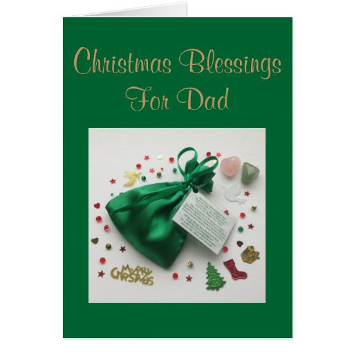Bag of Christmas Blessings for Dad Card with Verse