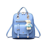 Classic Fashion Backpacks with Teddy Bear Charm, Baby Blue from Gifts Are Blue