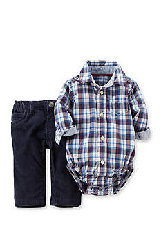 Carter's® 2-Piece Plaid Bodysuit and Corduroy Pant Set