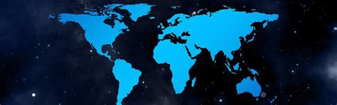 illustration banner header continents country
