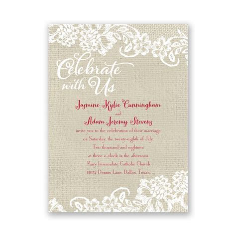 Country Details Petite Invitation   Ann's Bridal Bargains