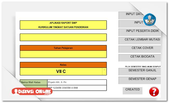 Aplikasi Raport SMP Berbasis KTSP