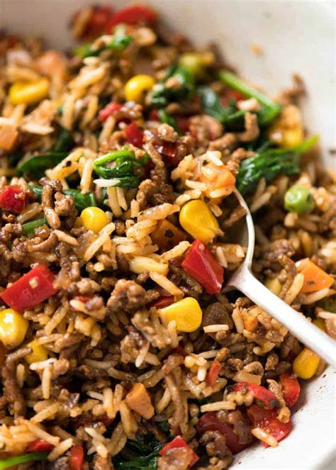 brown rice ground beef