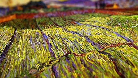 Tilt shift effect applied to van Gogh paintings