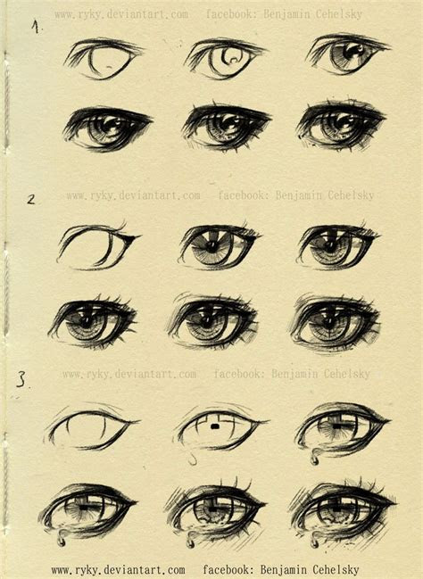 eyes step  step reference  ryky drawing illustration