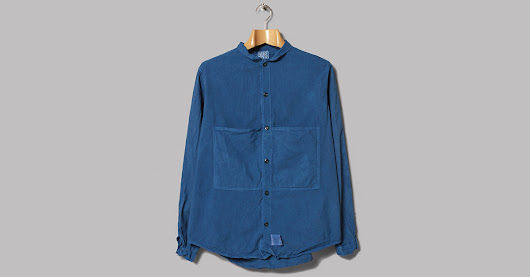 Tender Woad-Dyed Long Sleeve Butterfly Shirt