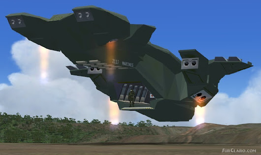 FSX HALO Nation Pelican Dropship Space Ship (21497)