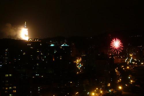 從木柵看台北101跨年煙火