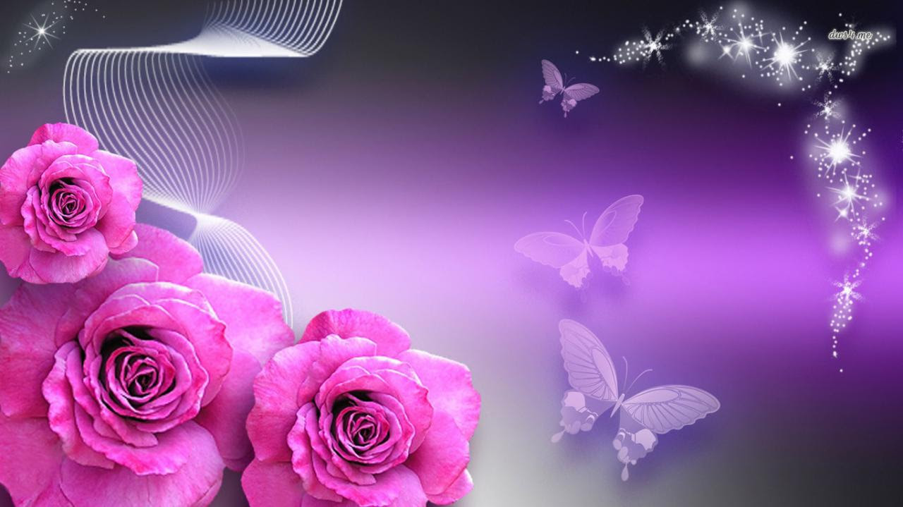 Rose And Butterfly Wallpaper