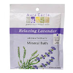 Aura Cacia Aromatherapy Mineral Bath Packet, Relaxing Lavender - 2.5 Oz