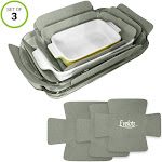 Evelots Bakeware Pan/Dish Scratch Protector-Large Sizes-Thick Polyester-Set/3