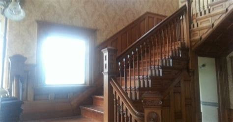 Held ceremony on the stairs in this victorian home. The