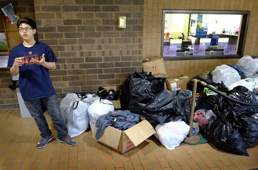 Local eighth grader creates clothing drive for Harbor House