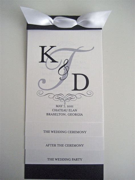 Layered Wedding Program   Like the front page design