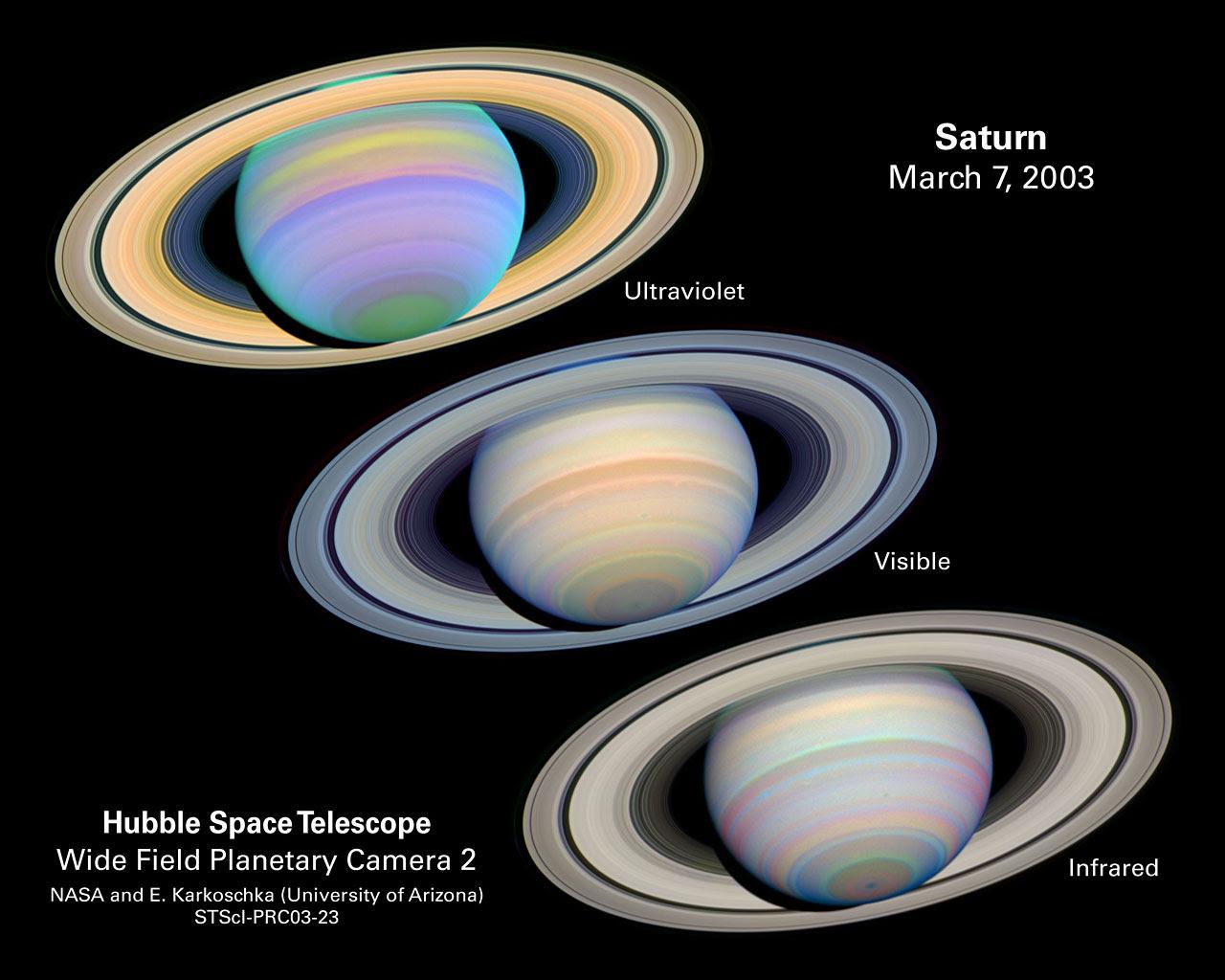 The Slant On Saturn S Rings Esa Hubble