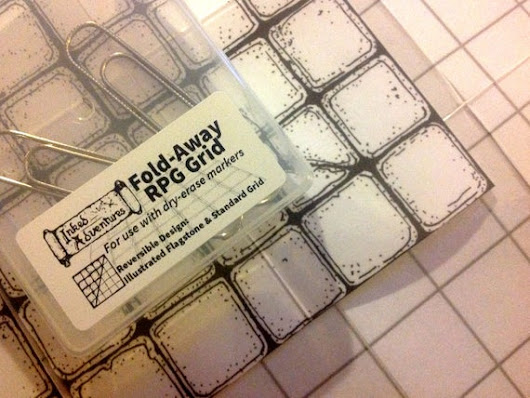 Inked Adventures Fold-Away RPG Grid  hand-drawn laminated