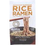 Lotus Foods Buckwheat Mushroom Brown Rice Ramen with Vegetable Soup - 2.8 Ounce -PACK 10