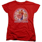 Trevco Sportswear Hbro289-wt-1 Candy Land Womens Short Sleeve T-Shirt - Red, Small, Women's