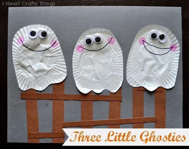 The best diy of the day ghost craft based on book thr for Crafts for little kids