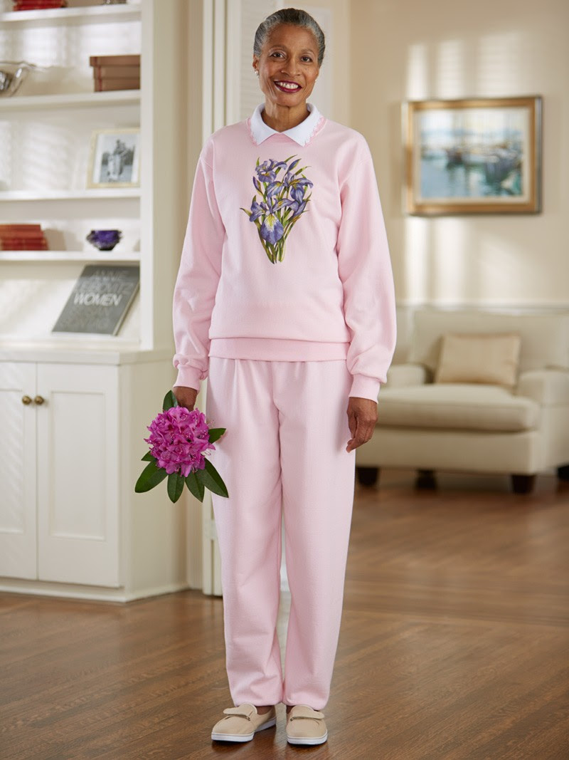 womens large size printed sweatsuit wcollar 2x  3x