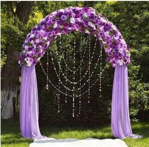 "55""W x 90""H White Metal Wedding Arch   eFavorMart"
