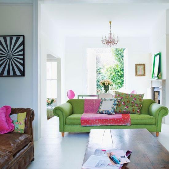 Modern renkli oturma odası | Salon fikir | Koltuk | Resim | Housetohome