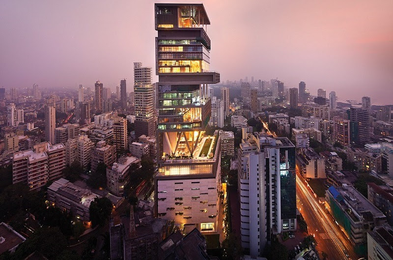 Antilla and Visually Stunning Homes in the Evening