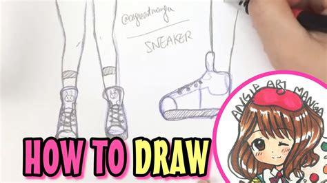 draw manga shoes sneakers  beginners  easy