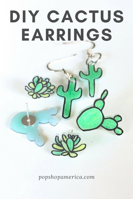 DIY Cactus Earrings by Pop Shop America